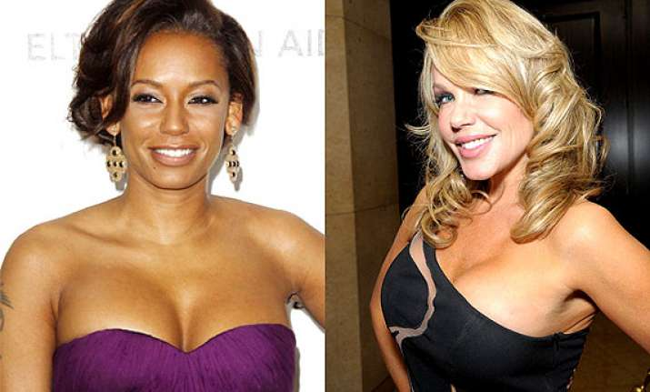 playboy model claims having sexual romps with mel b while