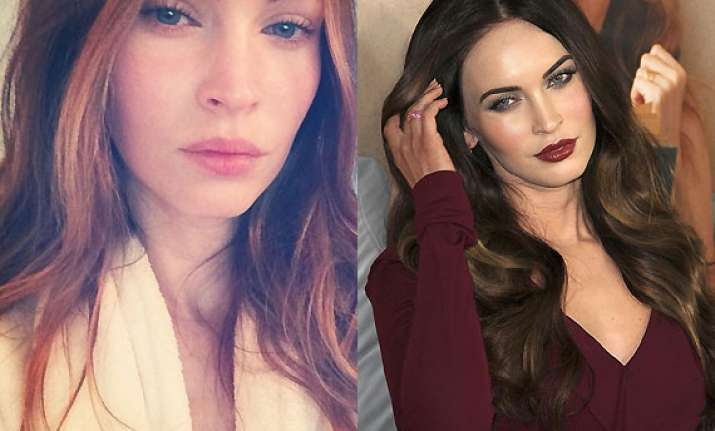 megan fox debuts with make free selfie on instagram