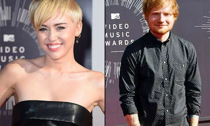 ed sheeran finds miley cyrus fantastic