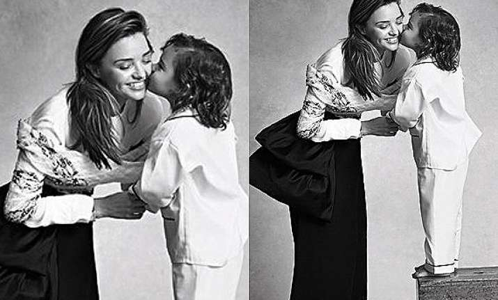 miranda kerr s son makes modelling debut