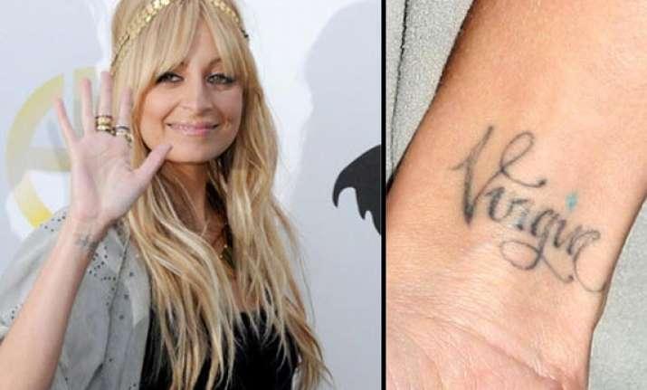 nicole richie regrets virgin tattoo