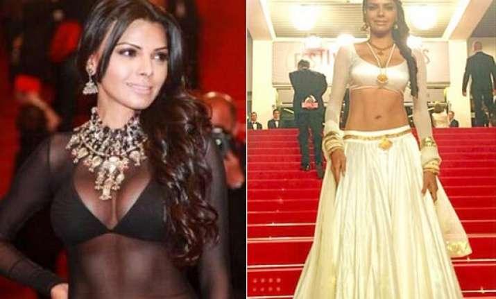 after wearing transparent attire sherlyn chopra flaunts a