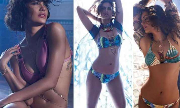 esha gupta does a sensuous photoshoot for elle view pics