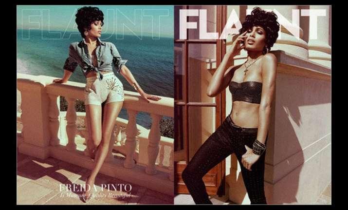 freida pinto goes bold and retro