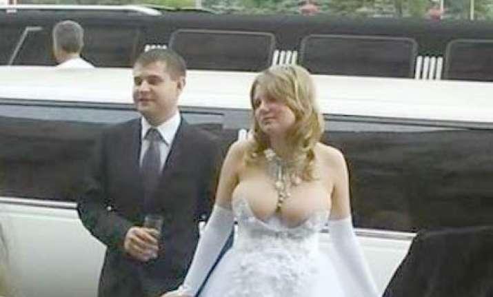 russian bride s wedding dress is web sensation