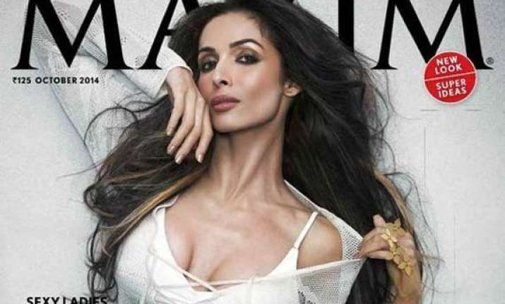 malaika arora khan at 40 scorches the cover of maxim view