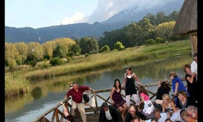 80 wedding guests fall in south africa as wooden deck gave