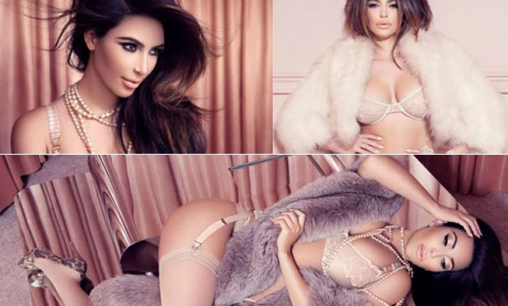 kim poses hot for french magazine