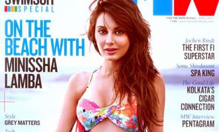 minissha poses in bikini for man s world