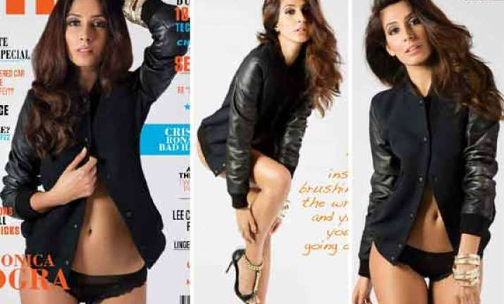 monica dogra bares all for fhm view pics