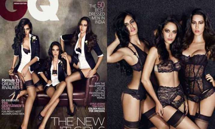 nathalia malika angela on the cover of gq india