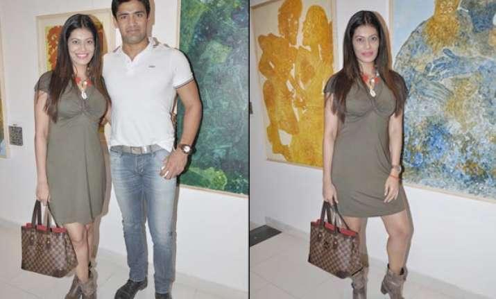 payal rohatgi poses with boyfriend sangram watch pix