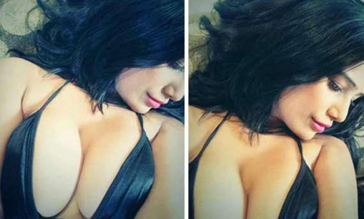 poonam pandey flaunts her formidable twins in new posts