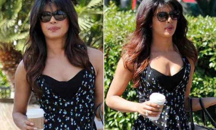 priyanka chopra spotted in an eye popping dress in usa view