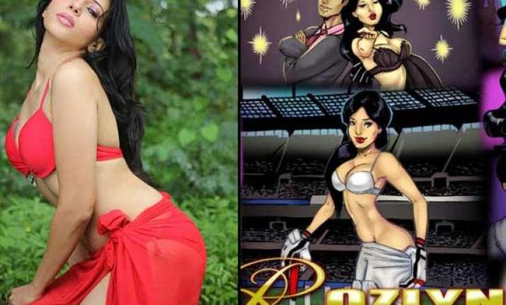 rozlyn khan turns savitha bhabhi view pics