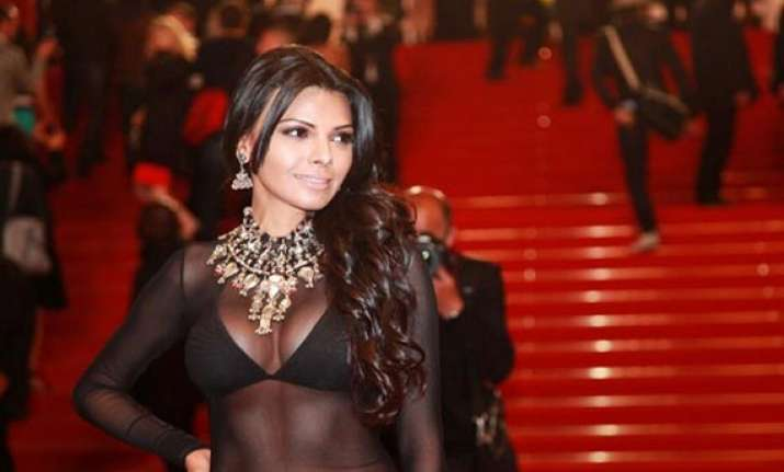 Sherlyn Chopra S Revealing Dress At Cannes 2013 View Pics