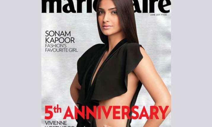 sonam looks bold on magazine cover