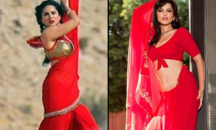 sunny leone to sizzle in red sari for her first punjabi