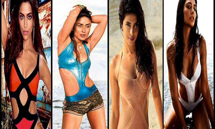 bollywood babes in sexy monokini see pics