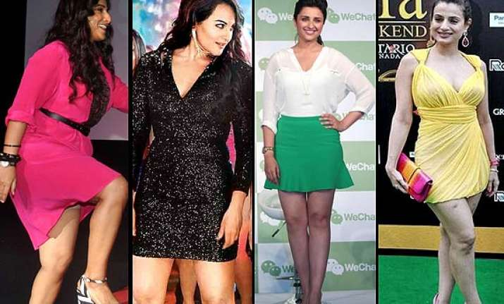 vidya sonakshi parineeti actresses with fat legs still