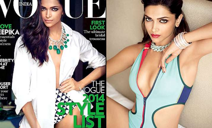 deepika padukone poses scorching hot sizzles on the cover