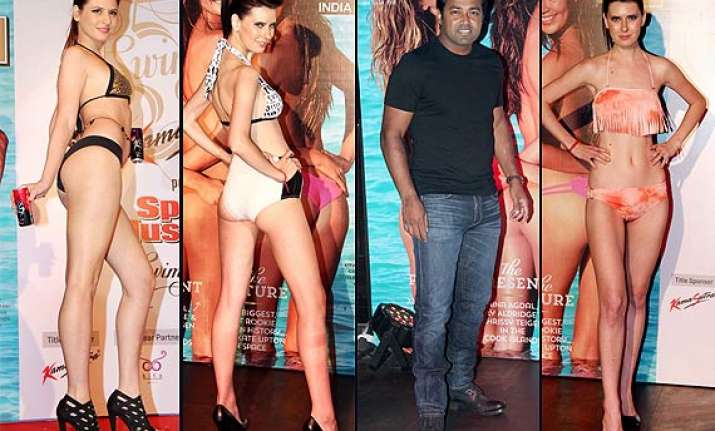 omg what is leander paes doing among bikini clad models see