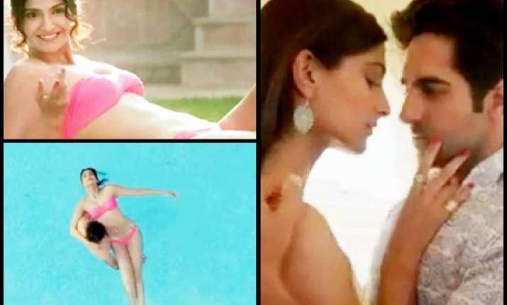 sonam kapoor sizzles in hot pink bikini see pics