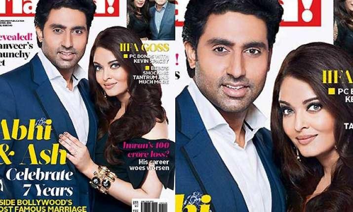 aishwarya abhishek grace the cover of masala magazine see
