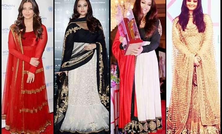 aishwarya rai bachchan s love for designer sabyasachi s
