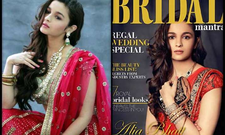 when alia turned bride for bridal mantra behind the scenes