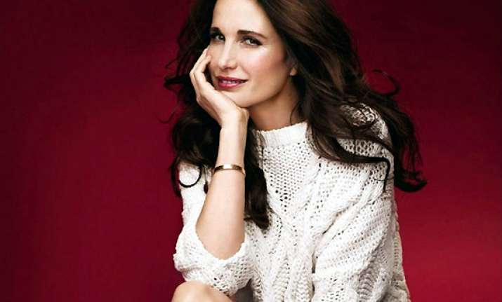 andie macdowell loves to experiment with her looks see pics