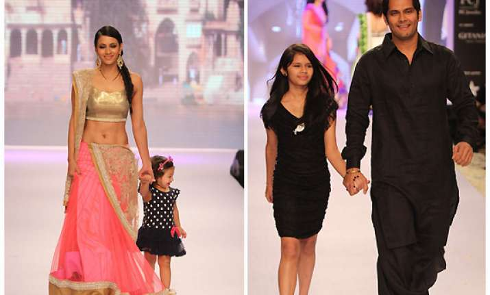 television stars with their kids walk the ramp for beti