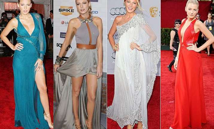 blake lively goes for comfort on red carpet see pics