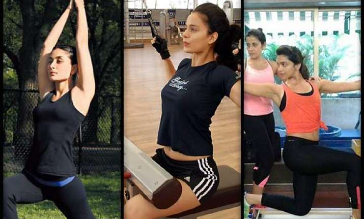 kangana deepika kareena s hot workout sessions see pics