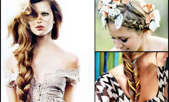 tangled braid hair to stay warm see pics