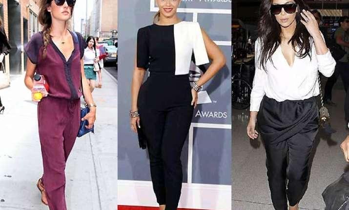 colour block jumpsuits the new fashion fad