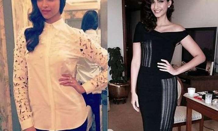 fashion rivalry deepika sonam sport dazzling look at