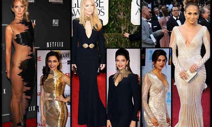 is deepika padukone copying hollywood fashionistas see pics