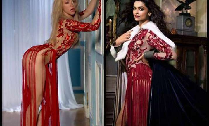 deepika vs hollywood diva caught copying shakira jennifer