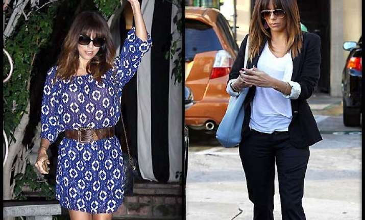 eva longoria s new look hair bangs