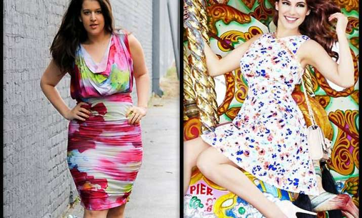 fashion for curvy women go for florals see pics