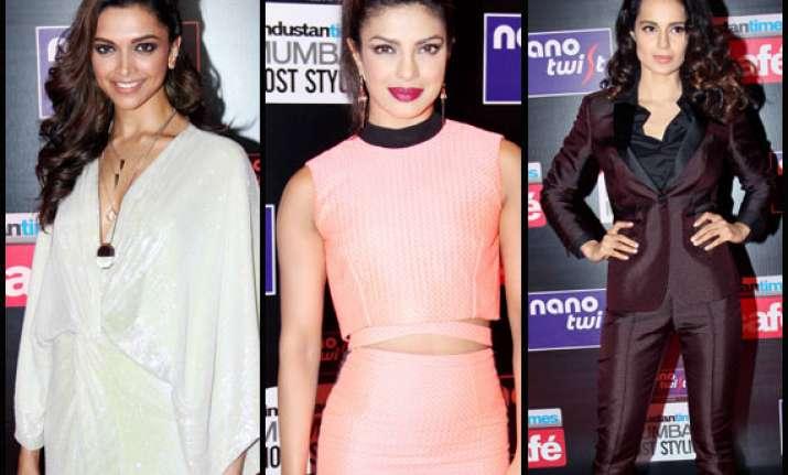 deepika priyanka kangana sizzle at the ht stylish awards