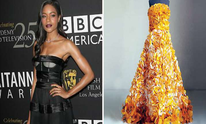 harris to wear gown made from sweet wrappers