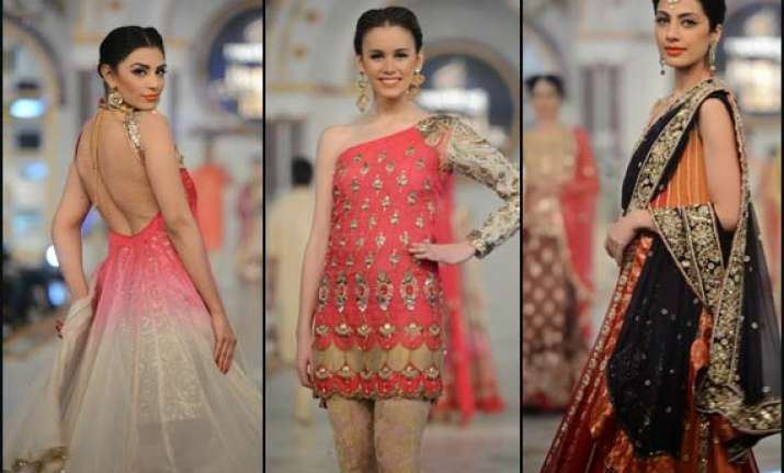 pakistan fahsion week 2014 hina butt presents sensuous yet