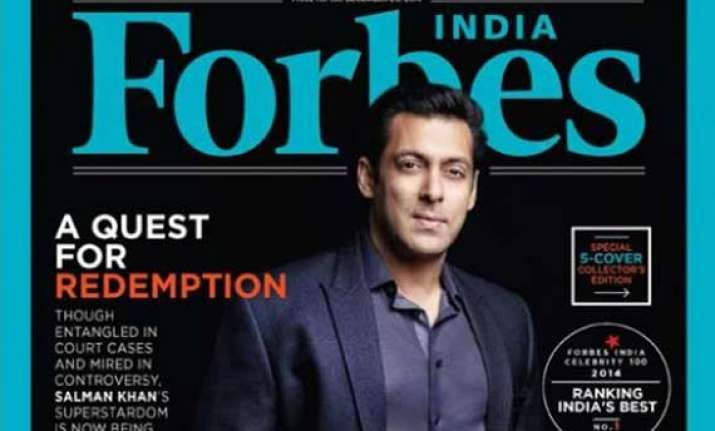salman khan beats shah rukh khan in forbes 2014 celebrity