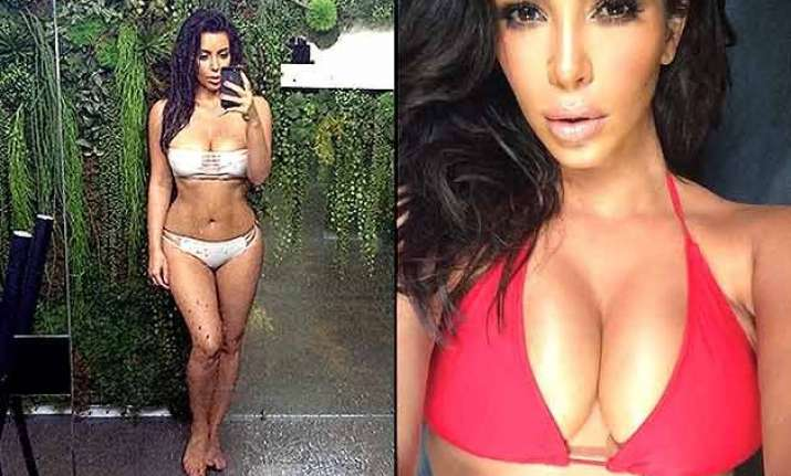 kim kardashian hot earth day selfie