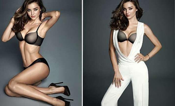 miranda kerr shows off body for lingerie brand wonderbra