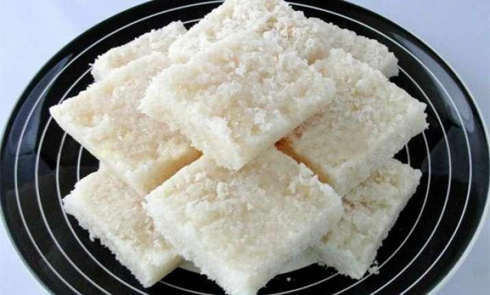 navratri special prepare coconut barfi in seven easy steps