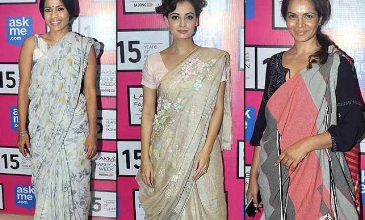 lakme fashion week 2015 indian textile day sees innovative
