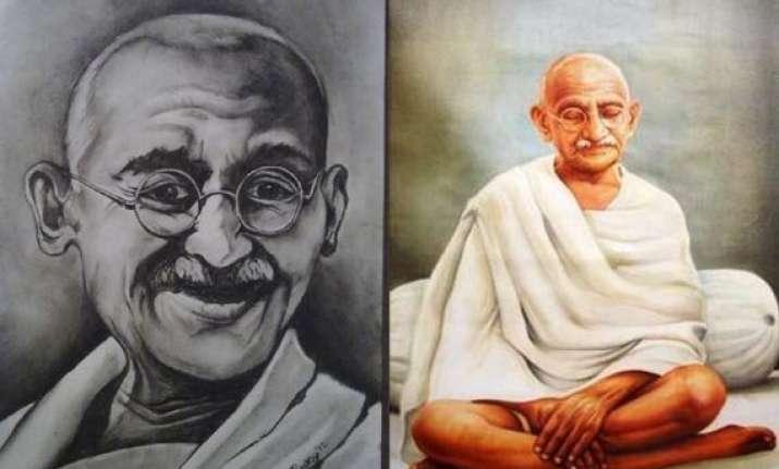 exclusive range of paintings as tribute to gandhi